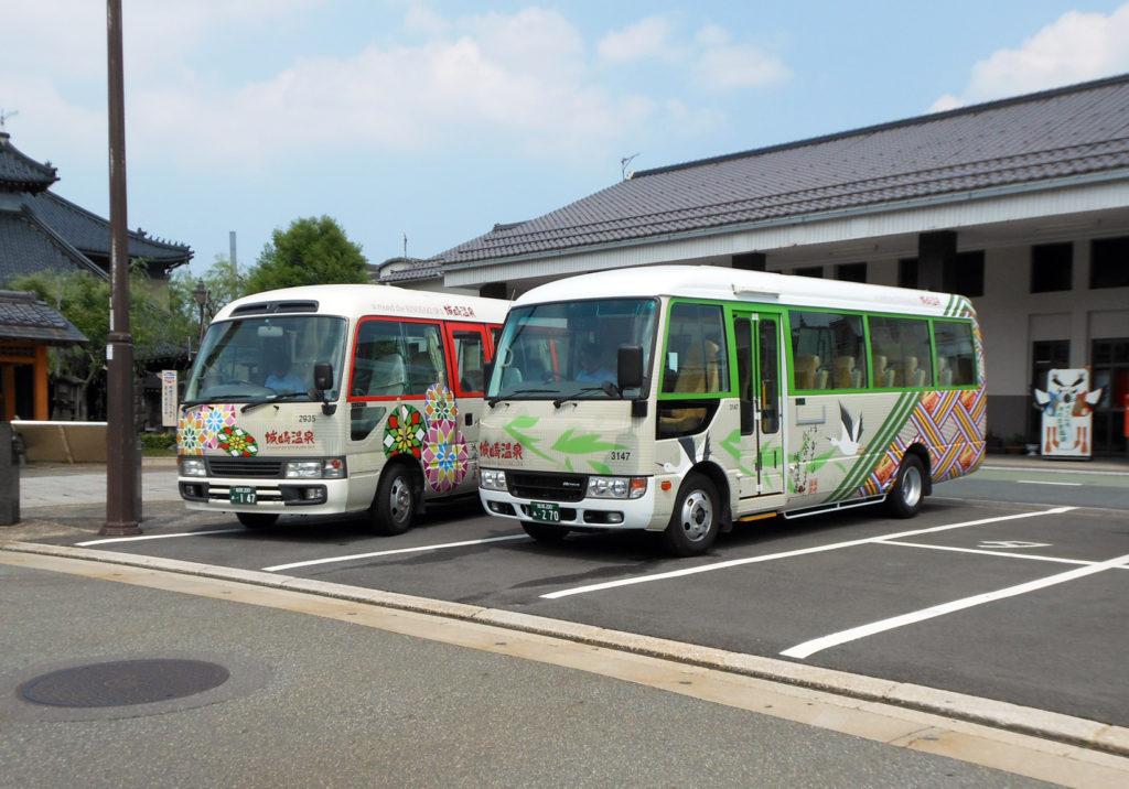 城崎温泉:ラッピングサイン送迎バス